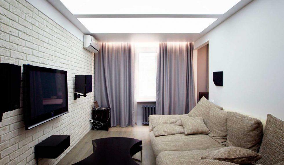 Натяжные и световые потолки
